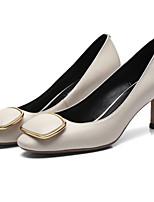 Недорогие -Жен. Наппа Leather Осень Туфли лодочки Обувь на каблуках На шпильке Черный / Красный / Синий
