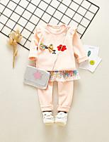cheap -Kids Girls' Print Long Sleeve Clothing Set