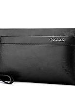 cheap -Men's Bags PU(Polyurethane) Clutch Zipper Black / Coffee