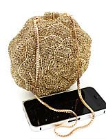 Недорогие -Жен. Мешки Сплав Вечерняя сумочка Кристаллы / С отверстиями Золотой