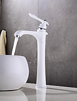 cheap -Bathroom Sink Faucet - Widespread / New Design Painting Deck Mounted Single Handle One Hole