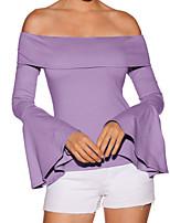 abordables -Tee-shirt Femme, Couleur Pleine Basique / Chic de Rue
