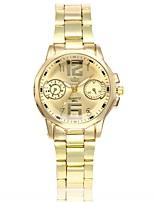 Недорогие -Жен. Нарядные часы Наручные часы Кварцевый Новый дизайн Повседневные часы сплав Группа Аналоговый Мода Элегантный стиль Серебристый металл / Золотистый - Серебряный Золото / Белый Черный / Серебристый