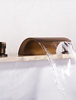 Недорогие -Смеситель для ванны - Современный Античная медь Разбросанная Керамический клапан
