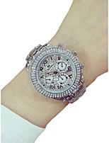 preiswerte -Damen Armbanduhr Chronograph / leuchtend / Imitation Diamant Legierung Band Glanz / Armreif Silber / Gold / Rotgold