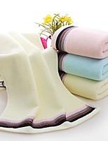 abordables -Qualité supérieure Serviette, Couleur Pleine Polyester / Coton Salle de  Bain 1 pcs