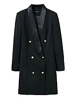 cheap -women's long blazer-solid colored notch lapel