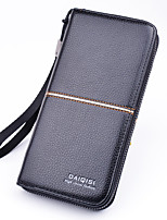 cheap -Men's Bags PU(Polyurethane) Wristlet Zipper Crocodile Black / Coffee / Dark Brown
