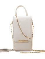 Недорогие -Жен. Мешки PU Мобильный телефон сумка С кисточками Бежевый / Темно-серый / Винный