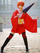 Недорогие -Вдохновлен Джинтама Gintoki Sakata / Kagura Аниме Косплэй костюмы Косплей Костюмы / Кимоно Аниме Костюм Назначение Жен.