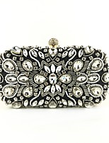 cheap -Women's Bags Polyester Evening Bag Beading / Crystals Geometric Black