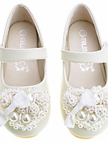 cheap -Girls' Shoes PU(Polyurethane) Spring &  Fall Comfort / Flower Girl Shoes Flats for Almond