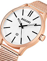 cheap -Men's Sport Watch Wrist Watch Japanese Quartz Calendar / date / day Casual Watch Cool Stainless Steel Band Analog Luxury Fashion Black / Blue / Rose Gold - Black / Gray Rose Gold / White Black / Rose