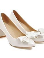 Недорогие -Жен. Комфортная обувь Замша Весна Обувь на каблуках На шпильке Белый / Черный / Розовый