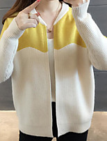 cheap -Women's Basic Cardigan - Color Block