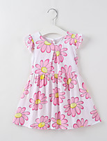 cheap -Kids / Toddler Girls' Floral Short Sleeve Dress
