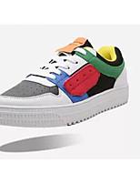 Недорогие -Муж. Комфортная обувь Полиуретан Весна & осень На каждый день Кеды Белый / Черный / Серый