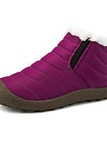 Недорогие -Жен. Комфортная обувь Синтетика Зима Ботинки На плоской подошве Черный / Пурпурный