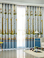cheap -Kids Curtains Kids Room Cartoon Polyester Blend Printed