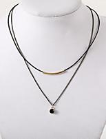 Недорогие -Жен. Многослойность Ожерелья-бархатки - Простой, европейский, Мода Черный 30 cm Ожерелье Бижутерия 1шт Назначение Повседневные