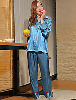 cheap -Women's Notch Lapel Suits Pajamas Geometric