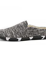 Недорогие -Муж. Комфортная обувь Полотно Весна На каждый день Мокасины и Свитер Черный / Бежевый / Синий