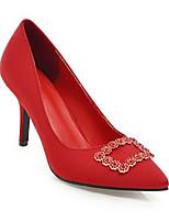 Недорогие -Жен. Замша Весна На каждый день Обувь на каблуках На шпильке Черный / Красный