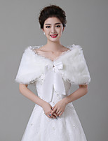 cheap -Sleeveless Faux Fur Wedding / Party / Evening Women's Wrap With Stitching Lace / Sash / Ribbon Capelets