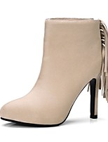 cheap -Women's Shoes Suede Fall & Winter Comfort Boots Stiletto Heel Wine / Almond / Light Brown