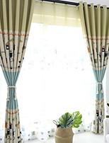 abordables -Rideaux opaques chambre d'enfants Géométrique Polyester Imprimé