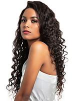 Недорогие -Необработанные / Натуральные волосы 360 Лобовой Парик Бразильские волосы Свободные волны Парик Глубокое разделение 150% Натуральный / Лучшее качество / Мода Нейтральный Жен. Длинные