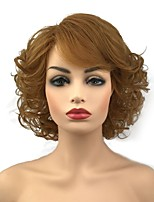 cheap -Synthetic Wig Curly Blonde Middle Part Synthetic Hair 10 inch Synthetic Red / Blonde Wig Women's Short Capless Light Brown