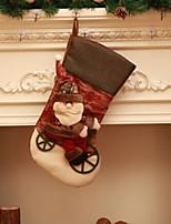 economico -Natale Cartone animato Tessuto Quadrato Originale Decorazione natalizia