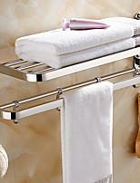 Недорогие -Держатель для полотенец Складной Современный Нержавеющая сталь 1шт Двуспальный комплект (Ш 200 x Д 200 см) На стену