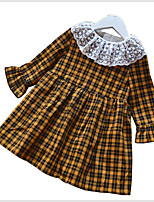cheap -Kids / Toddler Girls' Check Long Sleeve Dress