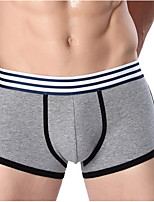 cheap -Men's Briefs Underwear Striped Mid Waist