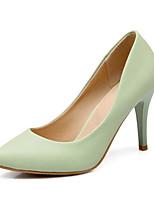 baratos -Mulheres Sapatos Confortáveis Couro Ecológico Primavera Saltos Salto Agulha Preto / Vermelho / Verde