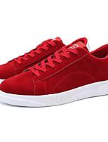 Недорогие -Муж. Комфортная обувь Замша Осень На каждый день Кеды Доказательство износа Черный / Серый / Красный