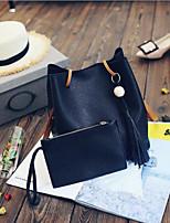 cheap -Women's Bags PU(Polyurethane) Bag Set 2 Pieces Purse Set Zipper Black / Blushing Pink / Light Grey