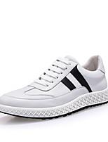 Недорогие -Муж. Наппа Leather Весна / Осень Удобная обувь Кеды Белый / Черный