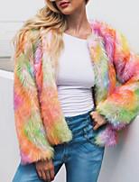 preiswerte -Damen - Einfarbig Street Schick / Anspruchsvoll Pelzmantel