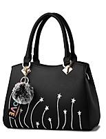 cheap -Women's Bags PU(Polyurethane) Tote Zipper Gray / Yellow / Wine