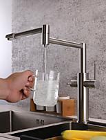 Недорогие -кухонный смеситель - Современный Матовый никель Стандартный Носик / Горшок Filler Настольная установка