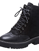 cheap -Women's Shoes Suede / Nappa Leather Fall & Winter Comfort / Combat Boots Boots Block Heel Closed Toe Booties / Ankle Boots Black