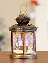 Недорогие -декоративный свет праздничный пластик&металлический дом в форме рождественские украшения