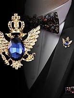 cheap -Men's Cubic Zirconia Retro / Stylish Brooches - Fashion, Elegant, British Brooch Black / Blue For Wedding / Holiday