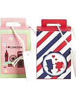 billiga -Kubartig kartong Papper Favörhållare med Mönster / tryck Presentkartonger - 25st