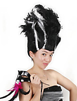 billiga -Syntetiska peruker / Kostymperuker Rak Bob-frisyr Syntetiskt hår 16 tum Moderiktig design / Cosplay / Party Svart / Vit Peruk Herr / Dam Mellanlängd Maskingjord Svart / Vit