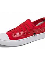 preiswerte -Herrn PU Herbst Komfort Sneakers Weiß / Schwarz / Rot