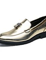 Недорогие -Муж. Наппа Leather Осень Удобная обувь Мокасины и Свитер Золотой / Черный / Для вечеринки / ужина